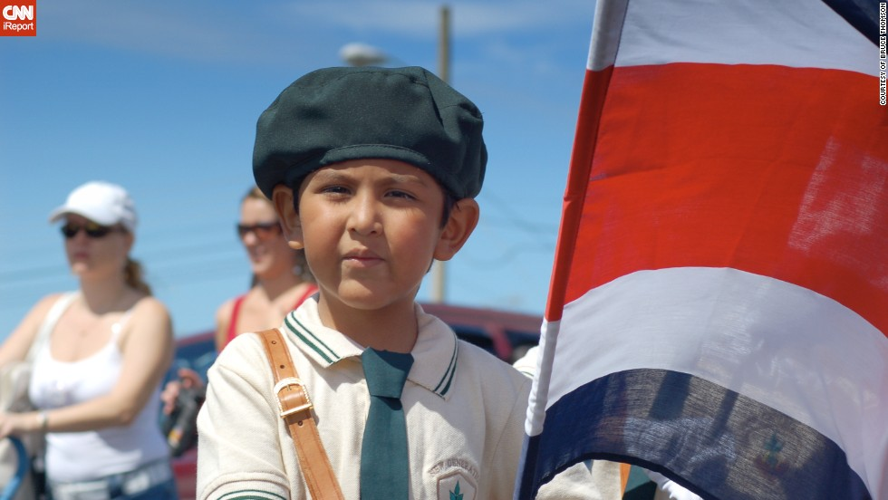 "Independence Day celebrations in Costa Rica often feature<a href=""http://ireport.cnn.com/docs/DOC-1028926"" target=""_blank""> parades of school children</a> carrying flags and dressed in traditional Costa Rican clothing or other costumes. Bruce Thomson, 29, took this photo in 2006 when he was living in the country. ""Celebrations often begin the night before with town gatherings and the lighting of home-made, patriotically decorated lanterns,"" said the World Bank economist."