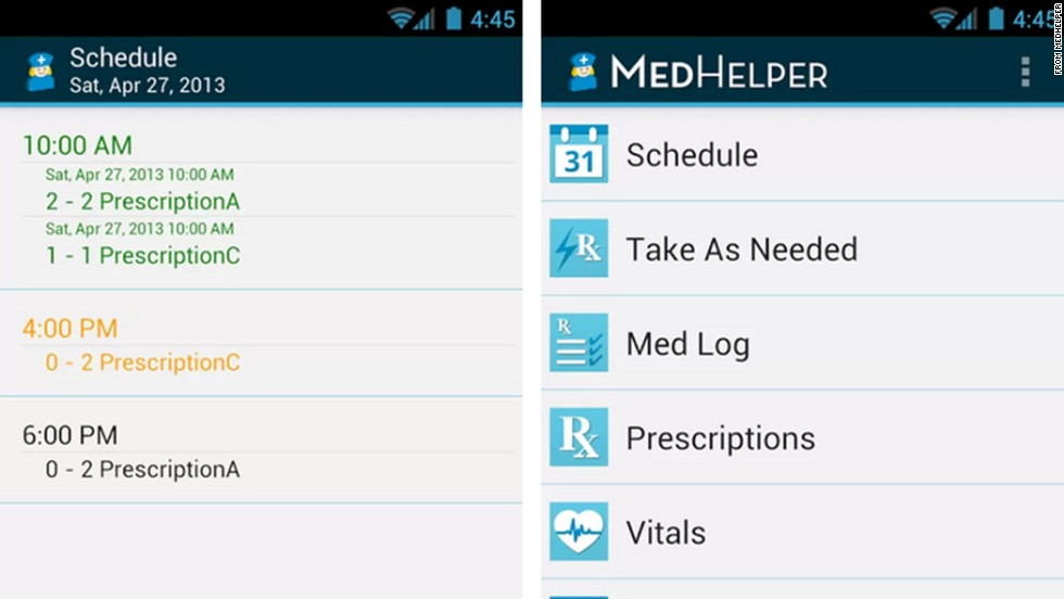"<a href=""http://medhelperapp.com/"" target=""_blank"">MedHelper</a> lets users track a family's worth of doctors appointments and prescriptions simultaneously. This app organizes medication and treatment information, and automatically reminds users to take pills on time. (iPhone, iPad, Android)"