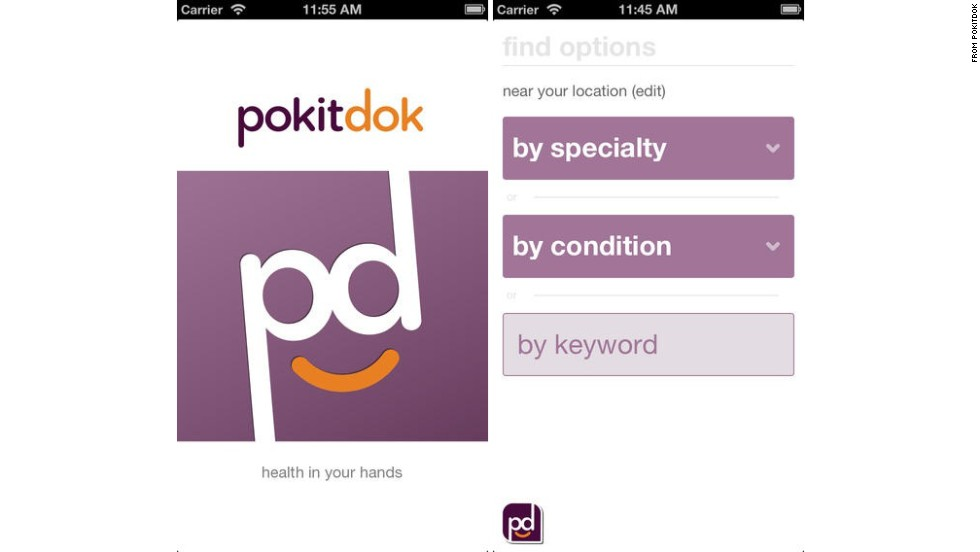 "PokitDok (pronounced ""pocket doc"") is designed to help patients find the best available local health care provider, based on reviews and prices. Patients can request a service and quote from a doctor before visiting the office. (iPhone, iPad, <a href=""https://pokitdok.com/"" target=""_blank"">PokitDok.com</a>)"