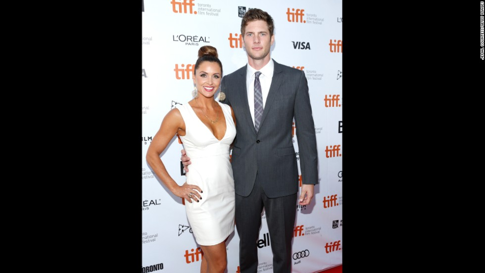 "Danielle Kirlin and Ryan McPartlin attend ""The Right Kind of Wrong"" premiere September 12."