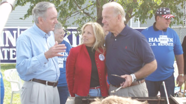 Then-Sen. Biden attended the Harkin steak fry in 2007 during Biden's last presidential bid.