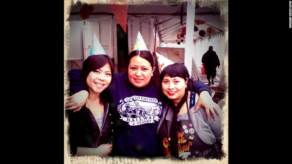 Lopez, right, and her co-workers decided to start a weight-loss competition in spring 2012. Norma Vasquez, middle, lost 30 pounds during the challenge. Their friend Wendy Sunico cheered them on.