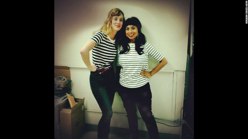 """Lopez says before she lost weight she always wanted """"to be able to throw on a pair of jeans and T-shirt and go. Which I can do now!"""" She poses here with co-worker Rebecca Giesking."""