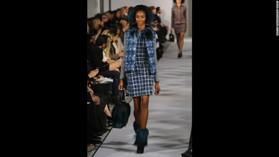 Oscar de la Renta's fall 2012 show during New York Fashion Week in February 2012.