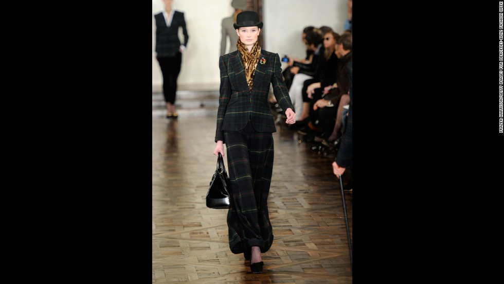 Ralph Lauren's fall 2012 show during New York Fashion Week in February 2012.