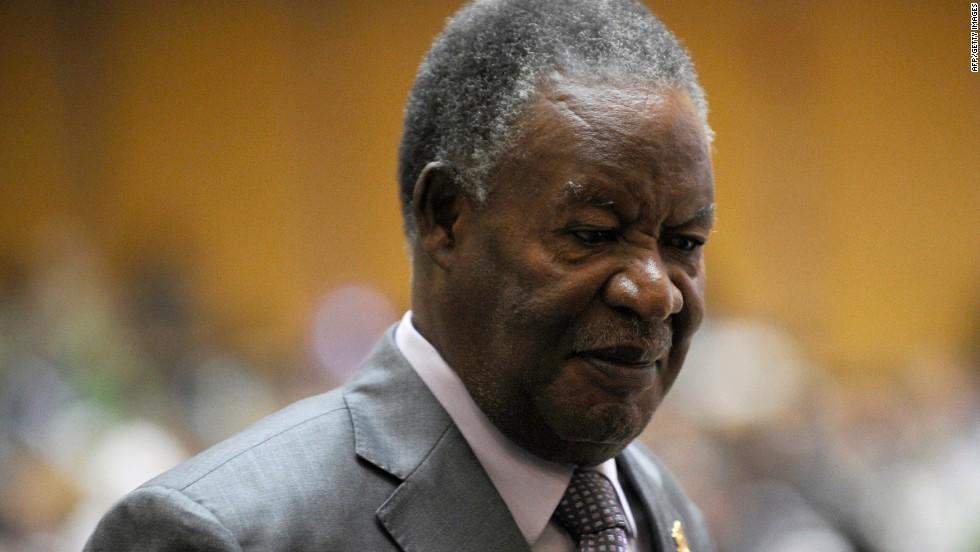 Michael Sata, President of Zambia, aged 76.