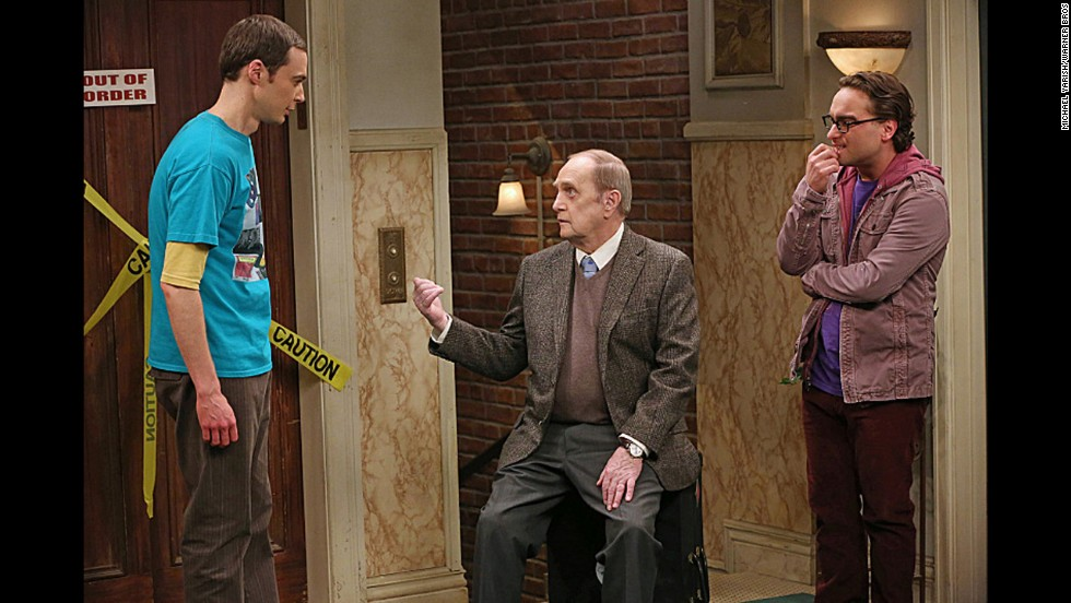"Newhart plays Professor Proton in the TV show ""The Big Bang Theory"" alongside characters Sheldon and Leonard."
