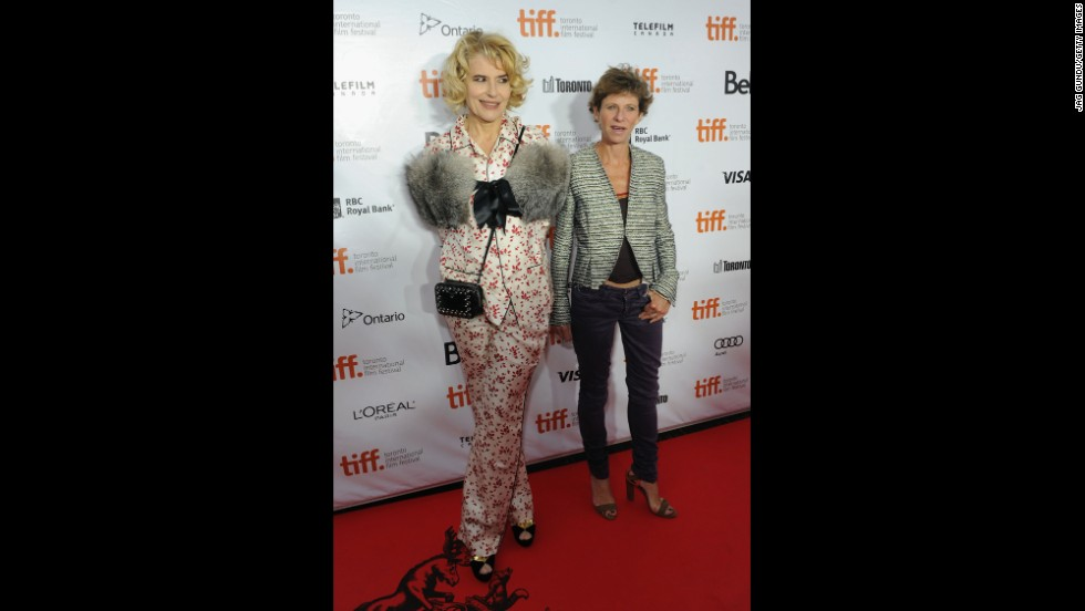 "Actress Fanny Ardant and writer/director Marion Vernoux attend the ""Bright Days Ahead"" premiere on September 13."