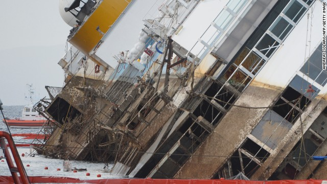 Costa Concordia salvage operation slows