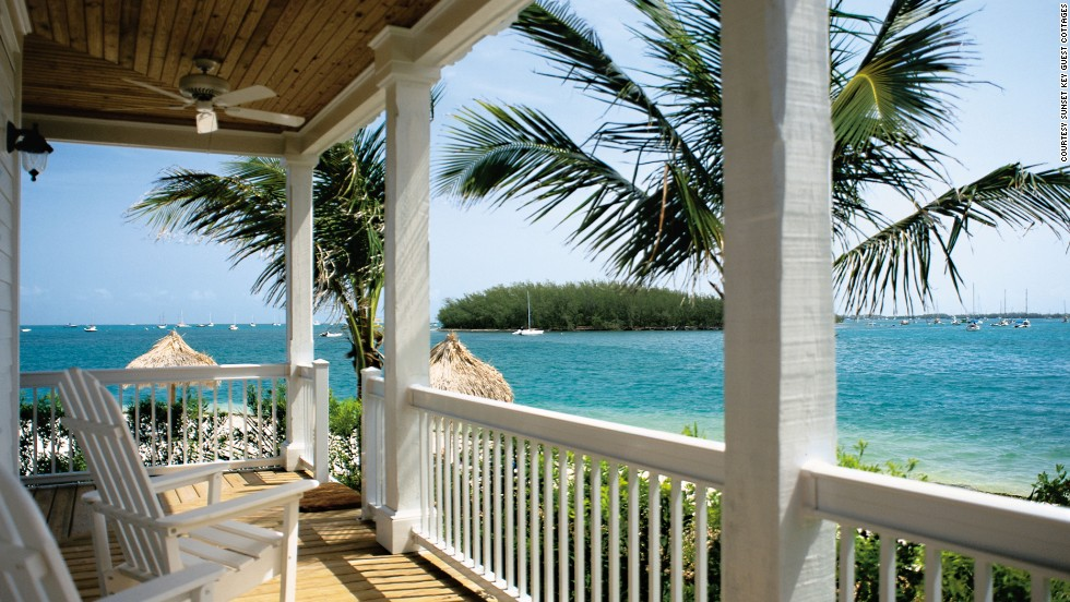 Pick one of two luxury cottages on the beach at Sunset Key Guest Cottages for this incredible view.