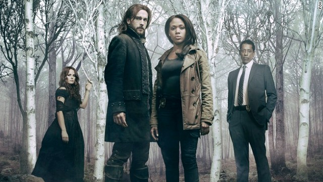 """Sleepy Hollow"" stars Tim Mison as Ichabod Crane and Nicole Beharie as his police partner, Abbie."