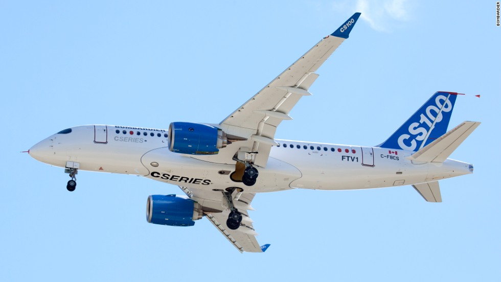 Ignoring the trend towards larger planes, the Bombardier will target the lower end of the passenger jet market -- aircraft carrying more than 100 but fewer than 150 passengers.