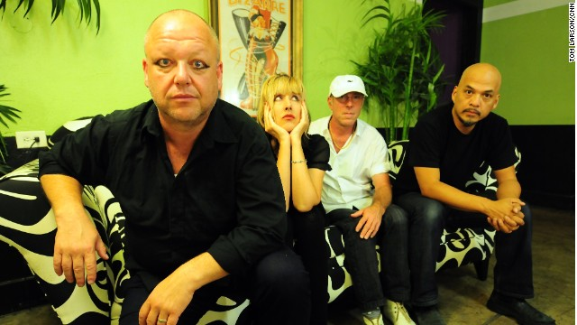 The Pixies in their dressing room at Los Angeles' Mayan Theater, September 12, 2013.