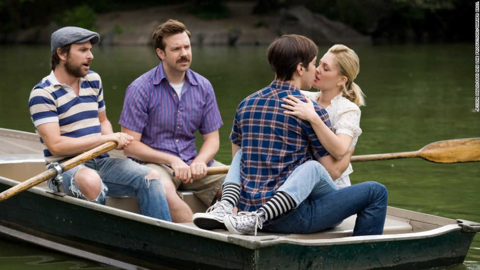 "In the 2010 film ""Going the Distance,"" Garrett and Erin, played by Justin Long and Drew Barrymore, try to navigate a relationship despite separate lives in New York and San Francisco."
