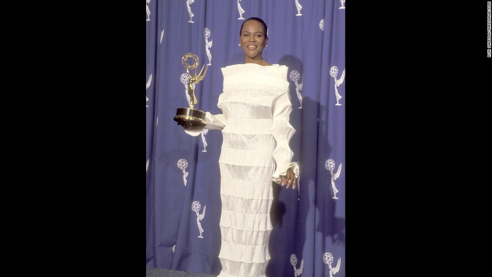 "Cicely Tyson cut a striking figure in white at the 1994 Emmy Awards, when she won for outstanding supporting actress in a TV miniseries or special with ""Oldest Living Confederate Widow Tells All."""