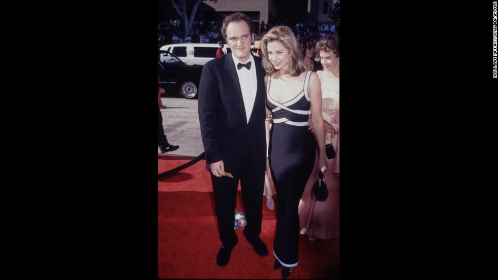 "At the 1996 Emmys, Quentin Tarantino and Mira Sorvino made a memorable pair on the red carpet. Sorvino was nominated for her portrayal of Marilyn Monroe in the TV movie ""Norma Jean and Marilyn."""