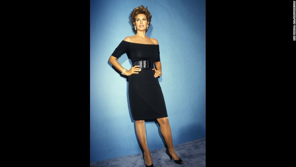 Raquel Welch's little black dress stole the spotlight at the 1987 Emmys.