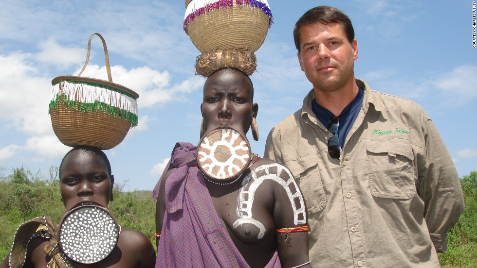 "Veley founded MostTraveledPeople.com as a membership site for the world's best traveled people. He currently heads the league table, with 829 ""pieces"" visited. Here, he meets people from Ethiopia's Omo Valley."