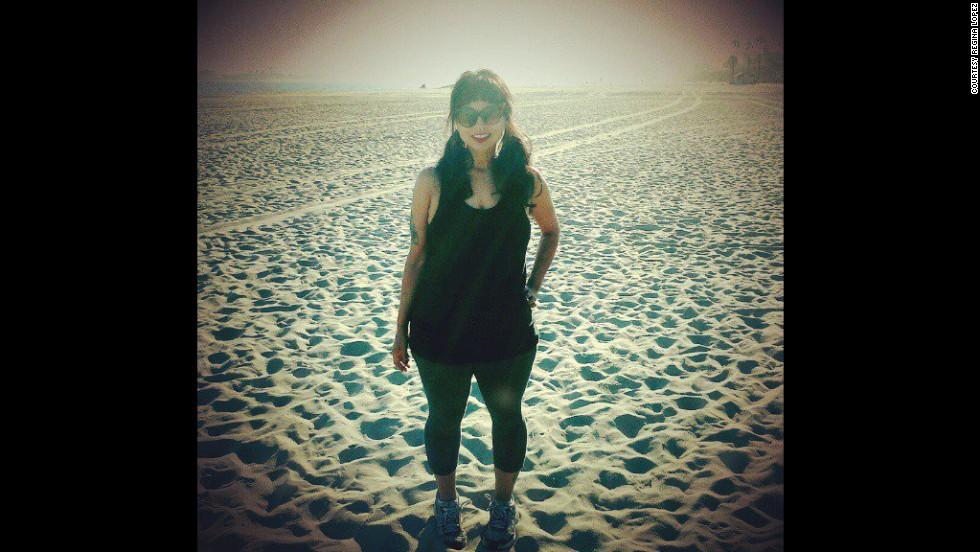 Lopez still runs on the beach six days a week. She says she hopes to run a half marathon one day.