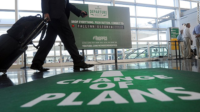 Heineken's 'Change of Plans' campaign at JFK airport
