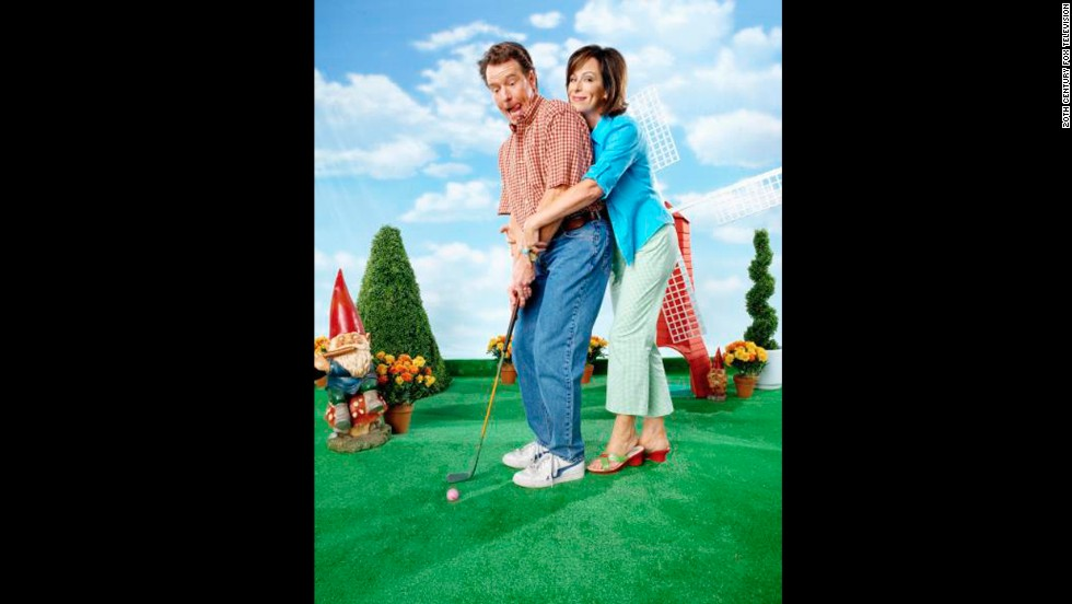 """Cranston's loosey-goosey portrayal of Hal, the father on """"Malcolm in the Middle"""" (here with co-star Jane Kaczmarek), earned him three Emmy nominations."""