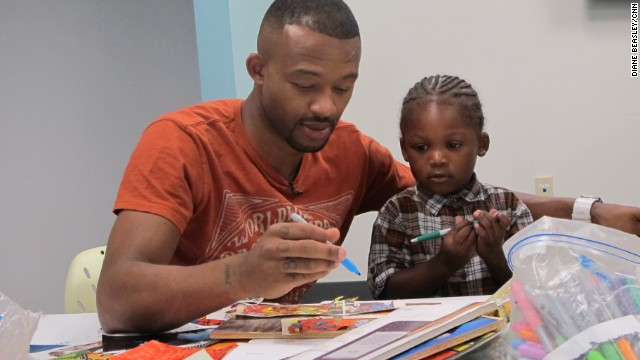 Marcus Dixon is rebuilding his relationship with his 3-year-old son, Akeo.