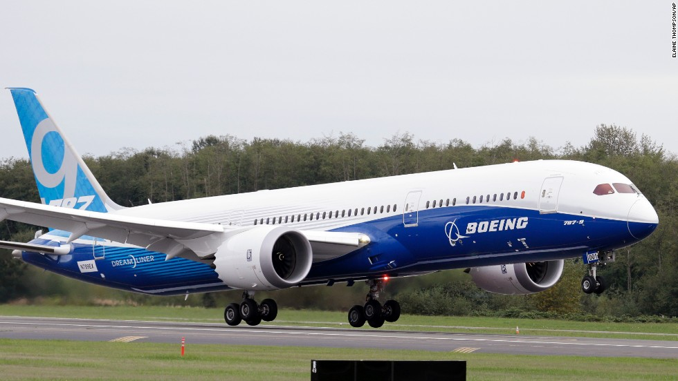 Boeing's 787-9 Dreamliner took off on its maiden voyage on September 17, 2013. The 787-9 is 20 feet longer and holds 40 more passengers than the 787-8, which carries between 210 and 250 passengers.