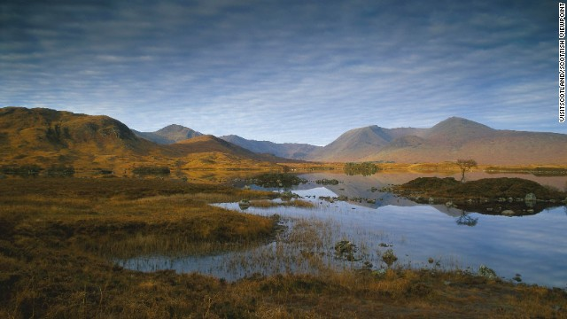 Sh! ... Listen ... Often the only sound on Rannoch Moor is the cry of the curlew.