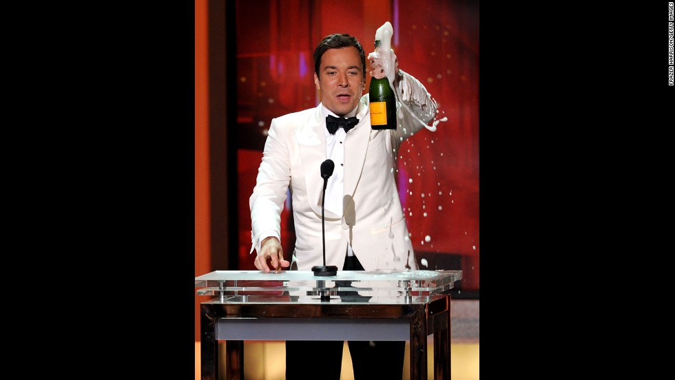 "A year after his ""Late Night"" premiered, Jimmy Fallon was hailed for his hosting style during the 62nd Annual Primetime Emmy Awards held at the Nokia Theatre L.A. Live on August 29, 2010, in Los Angeles."