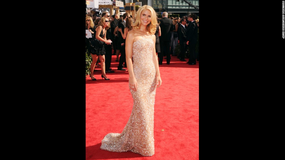 "Claire Danes might've been thinking ahead at the 2010 Emmys. The star's golden, sparkling gown matched well with the outstanding lead actress in a miniseries or a movie Emmy she won that night with ""Temple Grandin."""