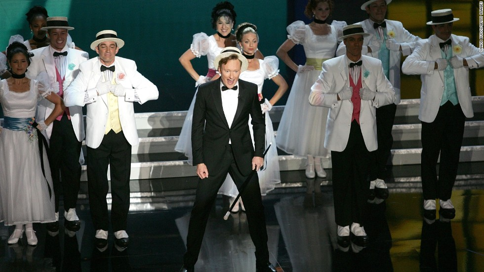 Conan O'Brien was just plain old fun when he hosted the 58th Annual Primetime Emmy Awards at the Shrine Auditorium in Los Angeles in 2006.