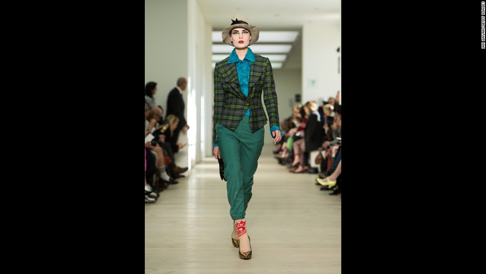 Vivienne Westwood's Red Label fall/winter 2013/14 show during London Fashion Week in February.