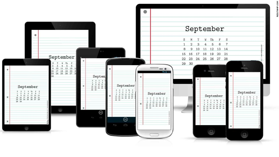 "What day is it? <a href=""https://www.redstamp.com/desktop-calendars"" target=""_blank"">Red Stamp's calendar wallpaper</a> can be updated each month to keep your calendar on track."