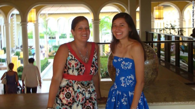 Darlene with her oldest daughter, Ashley, during their family vacation in Dominican Republic.