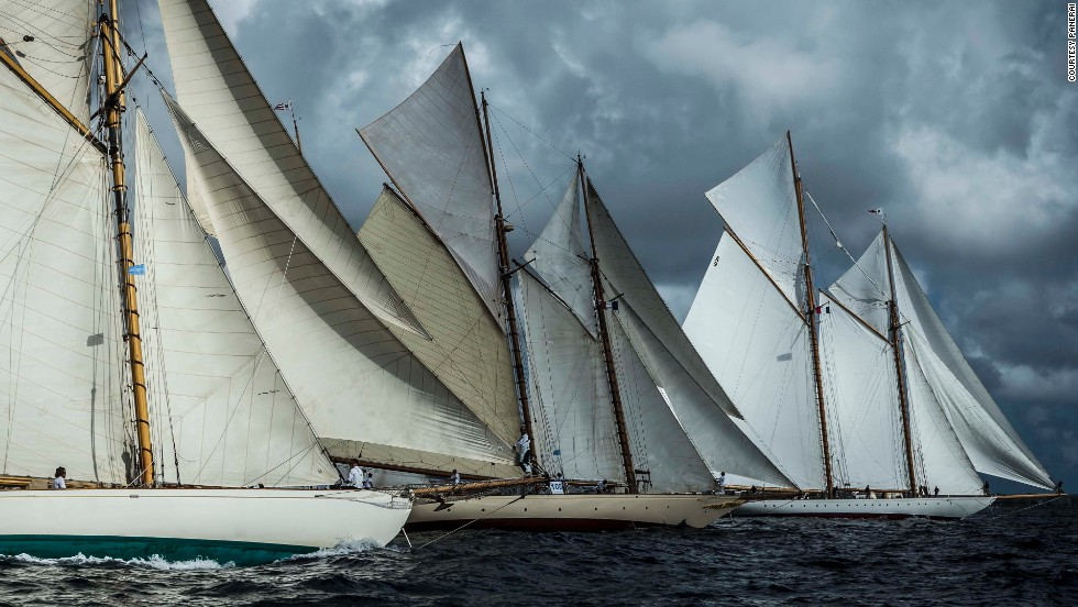 Welcome to Régates Royales de Cannes -- one of the largest vintage yacht races in the world.