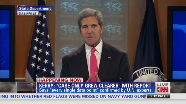 Kerry: Report shows sarin was used