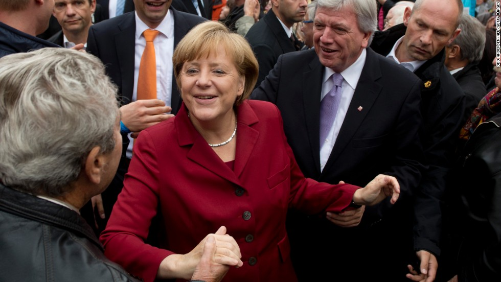 The election results showed again that she is one of the most popular politicians in Germany. Flip through these images to see her career in the making.