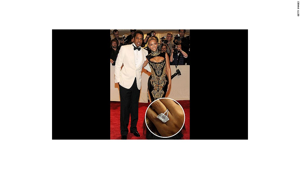 Jay-Z didn't just put a ring on it -- he went above and beyond for wife Beyoncé with a huge 18-carat diamond ring.<br />
