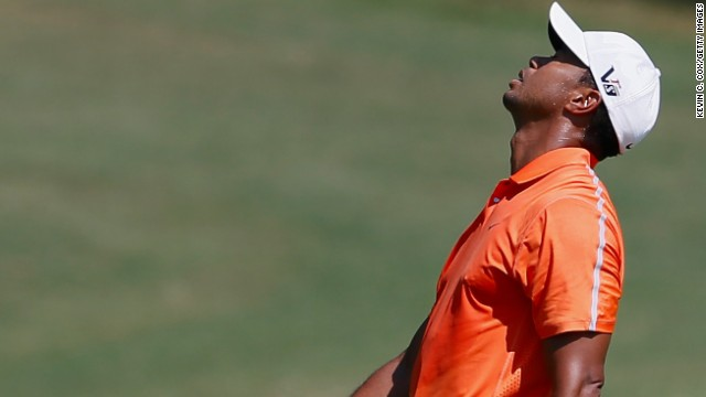 Tiger Woods will have to make up significant ground if he is to win the Tour Championship at East Lake.