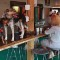 dogs on bar