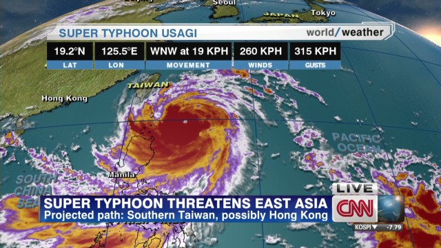Super typhoon threatens east  Asia