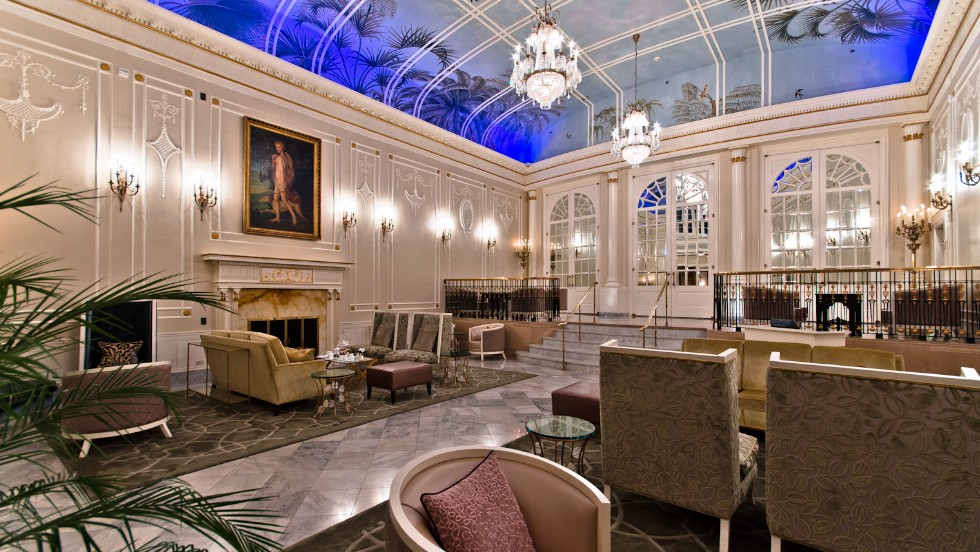 """Ritz Carlton Montreal was named a Fodor's """"enduring classic"""" hotel. """"It's really the grand dame of Montreal, and it recently went through major renovations but kept its historic touches,"""" says Bowen. """"There's still the outdoor garden where you can have tea, and they added a Daniel Boulud restaurant."""""""