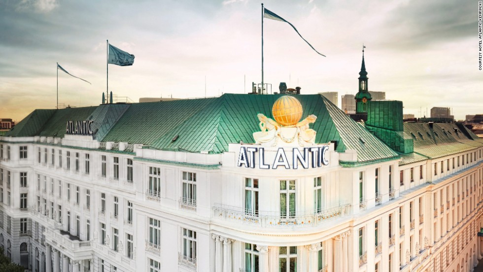"Bond scrambles over the iconic, globe-adorned rooftop of the Atlantic Kempinski in ""Tomorrow Never Dies,"" and the hotel's exterior also appears throughout the film. Played by Pierce Brosnan, Bond stays in the hotel's Atlantic Suite and several scenes were filmed there."