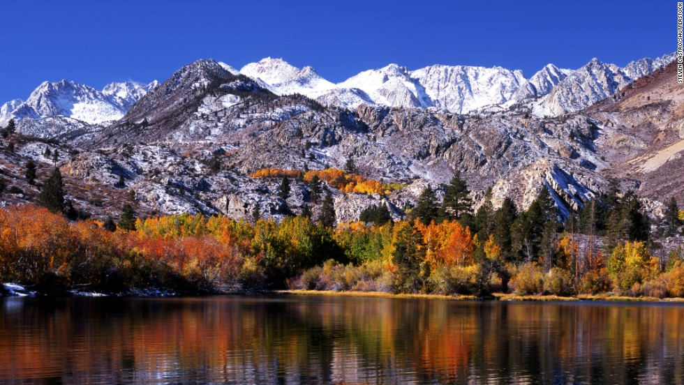 The drive to Bishop Creek Canyon is particularly beautiful in the autumn, when the leaves change colors.