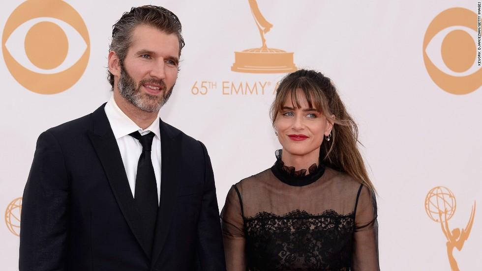 """""""Game of Thrones"""" executive producer David Benioff and his wife, actress Amanda Peet"""