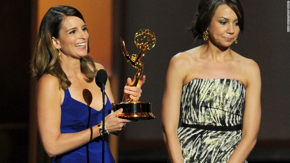 """Outstanding writing for a comedy series: Tina Fey and Tracey Wigfield, """"30 Rock"""""""