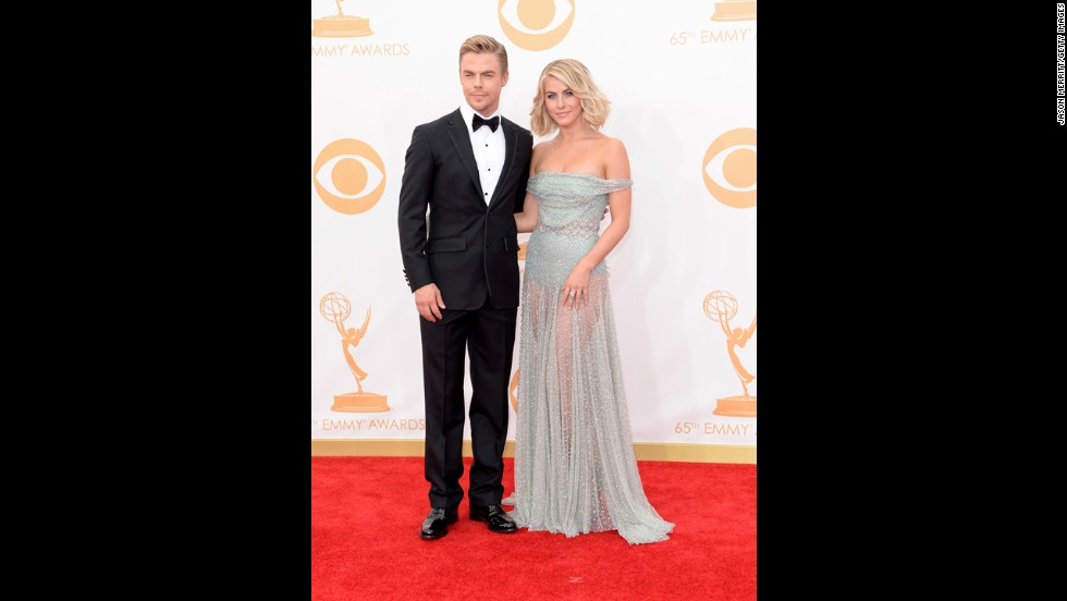 "Julianne Hough with brother Derek Hough, who won an Emmy for outstanding choreography for ""Dancing With the Stars."""