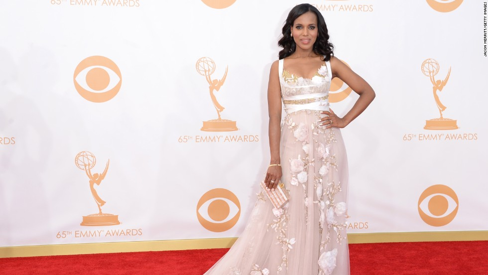 "<a href=""http://www.cnn.com/2013/09/19/showbiz/tv/emmys-2013-kerry-washington-it-girl/"">Kerry Washington</a> was nominated for outstanding lead actress in a drama series for her portrayal of Olivia Pope on ""Scandal."""