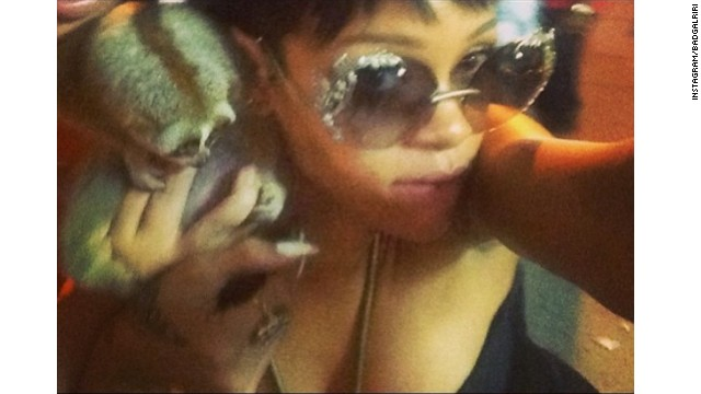 Rihanna causes stir with furry Instagram
