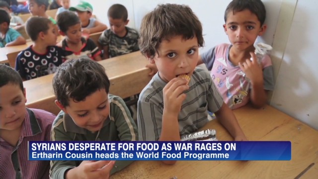 Syrians desperate for food as war rages